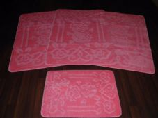 ROMANY WASHABLES NEW FOR 2018 SUPER THICK NEW DESIGN 4PC SET BABY PINK NON SLIP